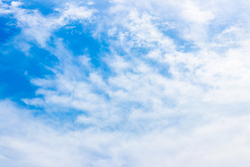 Blue sky background with clouds formation