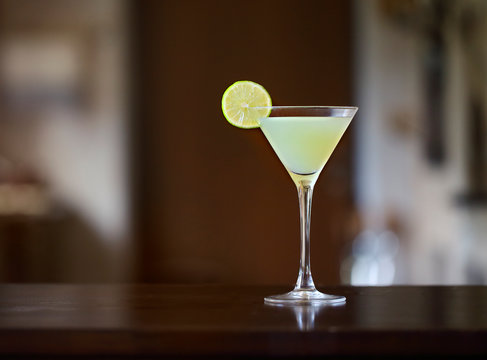 Daiquiri frozen cocktail with lime