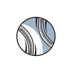 baseball ball icon logo vector