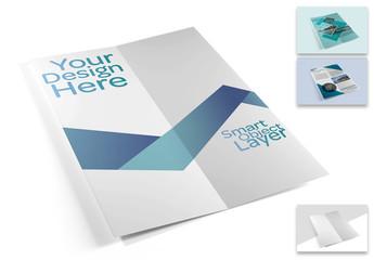 Folding Brochure Mockup