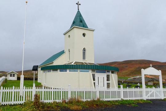 lutherische Kirche von Reykjahlíð, Myvatn, Island