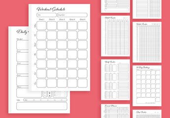 Black and White Heath Tracker Layout