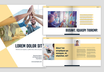 Brochure Layout with Yellow Accents