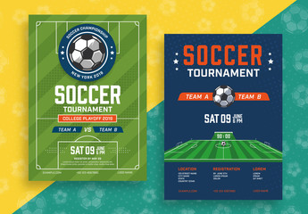 Soccer Tournament Poster Layouts