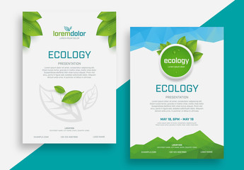 Ecology Presentation Flyer Layouts