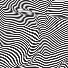 Wavy, billowy, flowing lines abstract pattern. Waving lines texture.