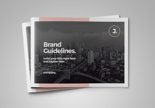 Brand Guideline Landscape Layout with Pink Accents
