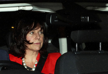 Britain's Minister of State for Energy and Clean Growth Claire Perry leaves the Houses of Parliament in London