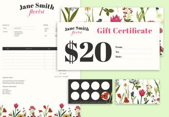 Floral Illustration Stationery Set
