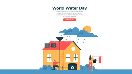 World Water Day eco landing page web template