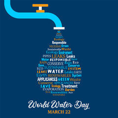 World Water Day concept for environment care