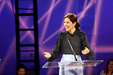 Danish Crown Princess Mary delivers remarks at the Danish Energy Innovation conferance at CERAweek at the Hilton of the Americas in Houston, Texas
