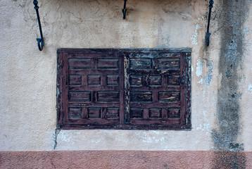 Detalle ventana casa tipica de segovia