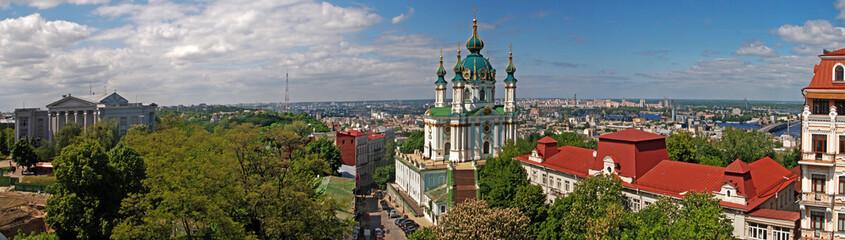 Wall Murals Kiev Panorama of St. Andrews Church in Kiev