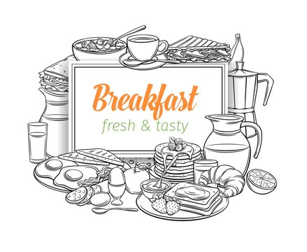 Breakfast layout, outline
