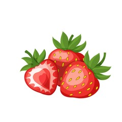 strawberries fruit icon