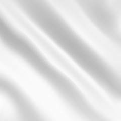Vector background of white fabric with waves