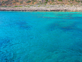 Beautiful turquoise water and rocky coastline
