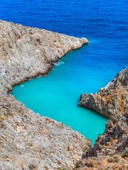 Amazing beauty of small blue lagoon