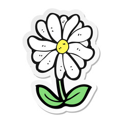 sticker of a cartoon flower symbol