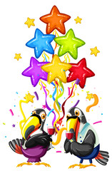 Toucan celebrate birthday template