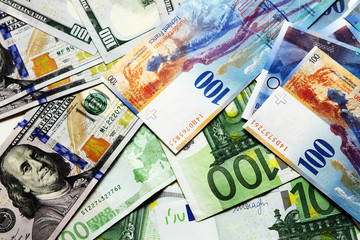 Europe banknote background