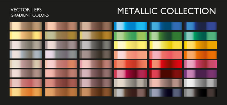 Holographic multicolor palette set. Vivid color gradient for screen, mobile, banner, tag, label template.