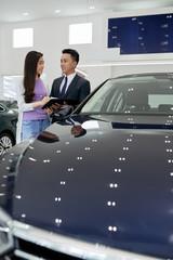 Vietnamese woman buying car
