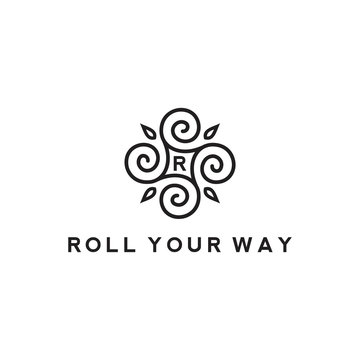 line design with roll swirl concept vector illustration