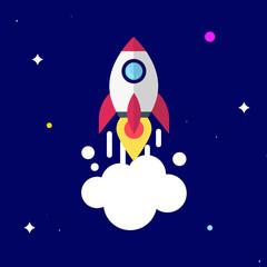 Rocket launch in space