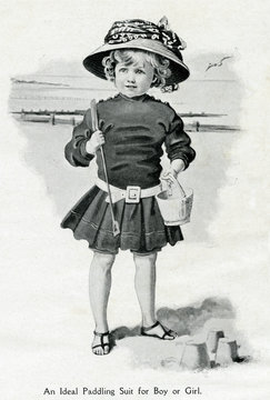 Paddling Suit for Boys and Girls 1907