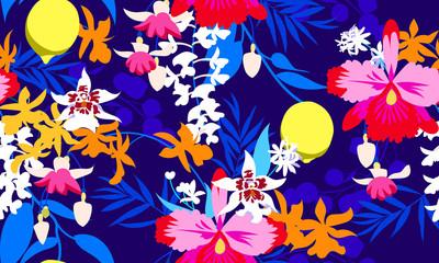 Tropical seamless fashion print