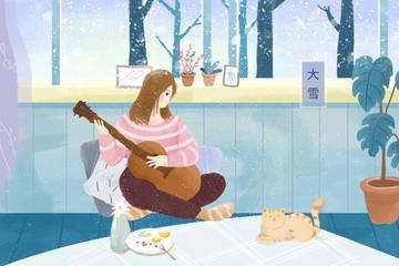 Snow creative illustrations