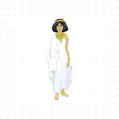 Egyptian woman illustration