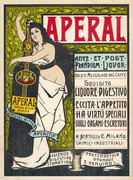 Advertisement for AperAl Liquor Aperitif