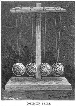 Newtons Cradle, Pendulum Collision Balls