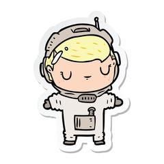 sticker of a cartoon astronaut