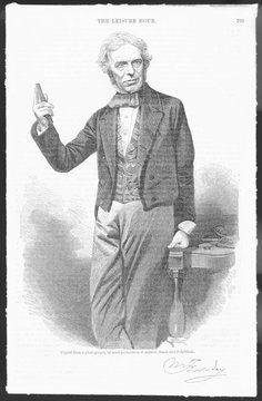 Michael Faraday, Scientist, with Glass Bar