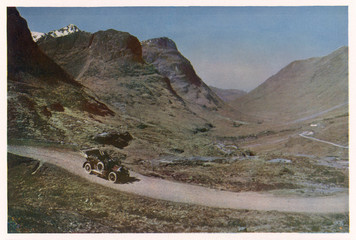 Motoring Through Glencoe, Scotland