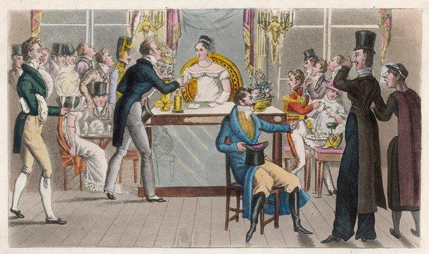 British Visitors in a Cafe, Paris