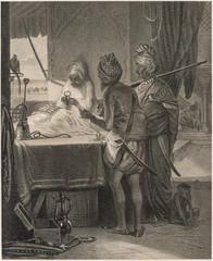 Indian Diamond Merchant Examining a Stone