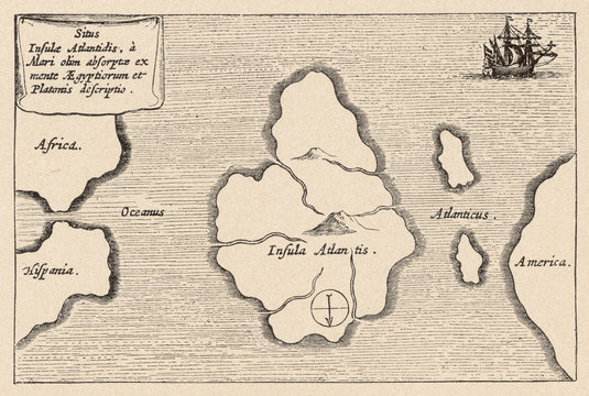 Map of Atlantis Kircher