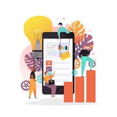 Mobile apps for business concept vector illustration