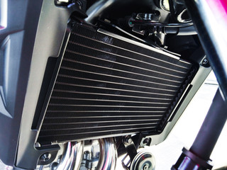 close up of motorcycle liquid cooled system Fototapete