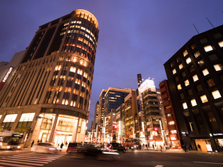Fototapete - 東京都 日本橋北詰交差点