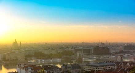Panorama of Budapest by Sunrise