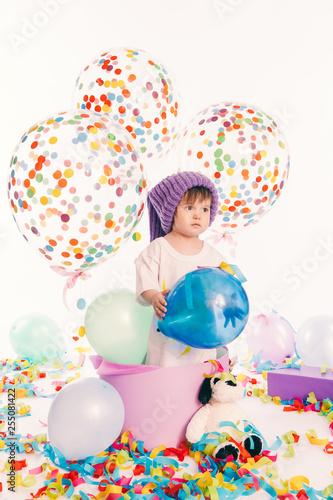 Little Boy Around Birthday Decorations