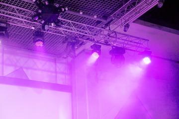 Stage lights. Soffits. Concert light