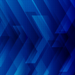 Abstract blue tech background with big arrows sign digital and stripes technology concept. Space for your text.