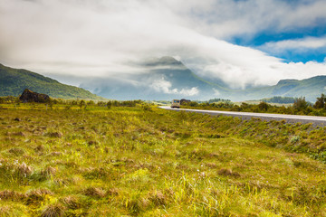 Gimsoya island landscape Lofoten Norway